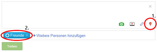 Der Google+-Publisher (Screenshot: Frank Krause / Google)