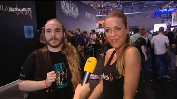 """""""Das Model und der Gamer"""" im RTL-Magazin Explosiv. (Screenshot: RTL)"""