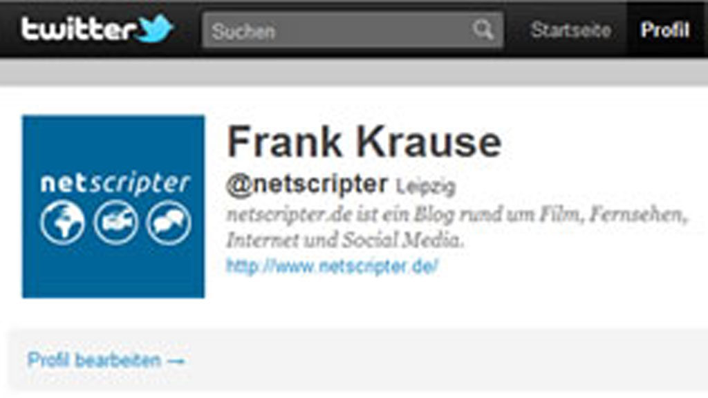 Mein Twitter-Account (Screenshot: Frank Krause / twitter)