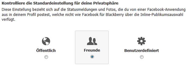 Facebook Publikumseinstellung (Screenshot: Facebook / Frank Krause)