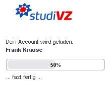 StudiVZ Ladebalken (Screenshot: StudiVZ / Frank Krause)