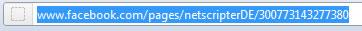 Seitenadresse ohne Nutzername (Screenshot: Frank Krause)