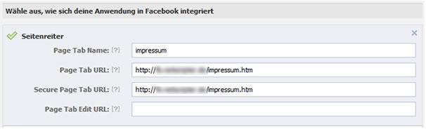 Facebook-App, Seitenreiter einrichten (Screenshot: Facebook / Frank Krause)