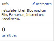 Infobox (Screenshot: Frank Krause / Facebook)