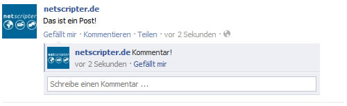 Blogpost und Kommentar im Facebook (Screenshot: Frank Krause / Facebook)