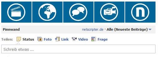 Facebook Thumbnail-Leiste (Sceenshot: Facebook / Frank Krause)