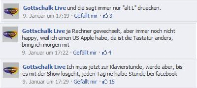 Gottschalk antwortet auf Facebook (Screenshot: Frank Krause / Facebook)
