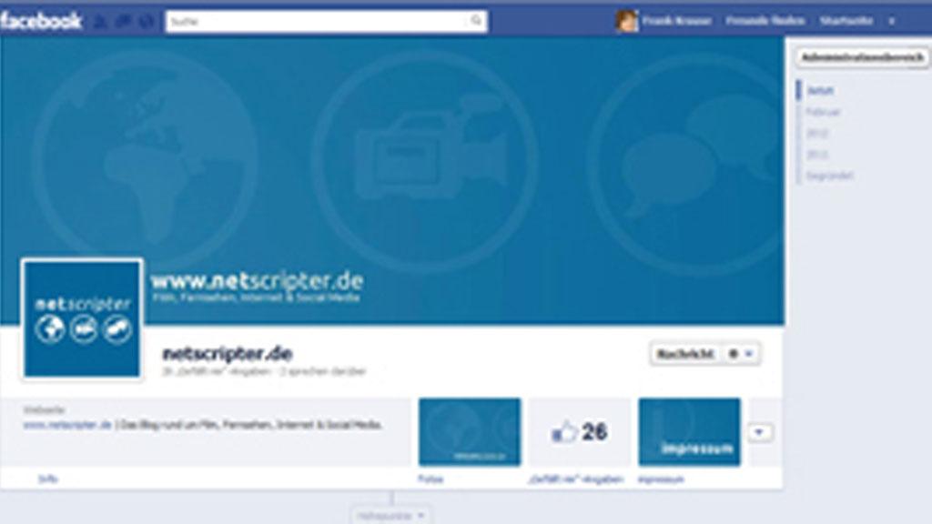 Die neue Chronik für Facebook-Seiten (Screenshot: Frank Krause / Facebook)