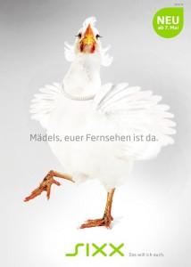 Ein Huhn für sixx (Foto: sixx)