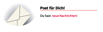 Post für dich! (Screenshot: Frank Krause / studiVZ)