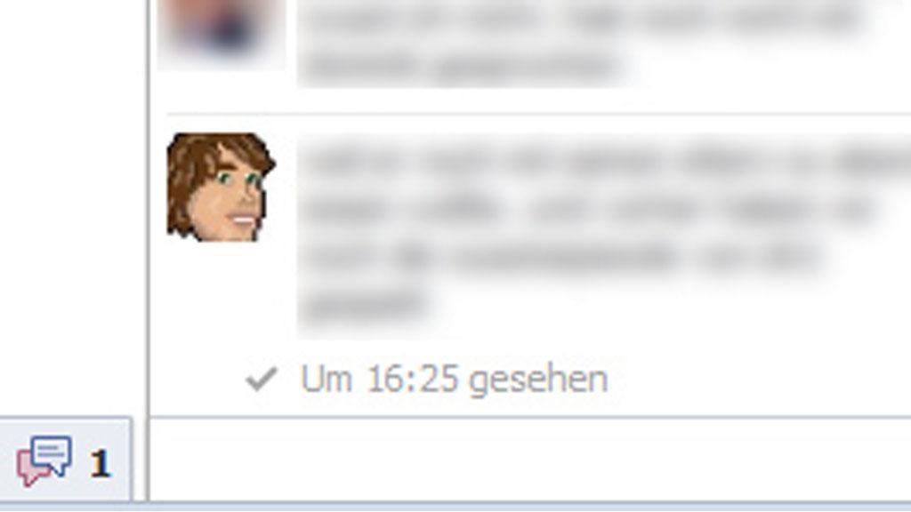 Die neue Info im Chat (Screenshot: Frank Krause / Facebook)