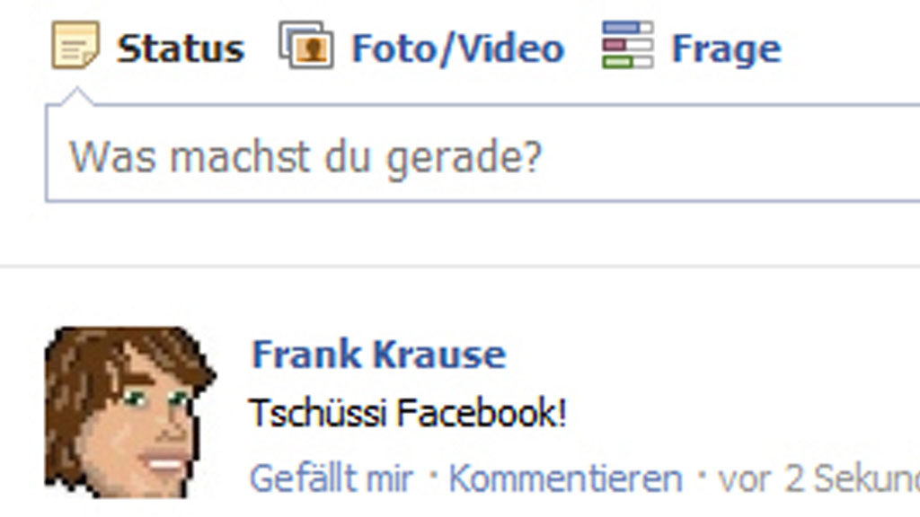Tschüssi Facebook! (Screenshot: Frank Krause / Facebook)