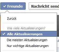 Alle Aktualisierungen eines Freundes anzeigen (Screenshot: Frank Krause / Facebook)