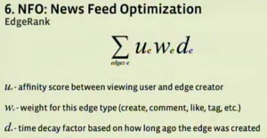Der Edgerank (Screenshot: f8 developer conference / Facebook)