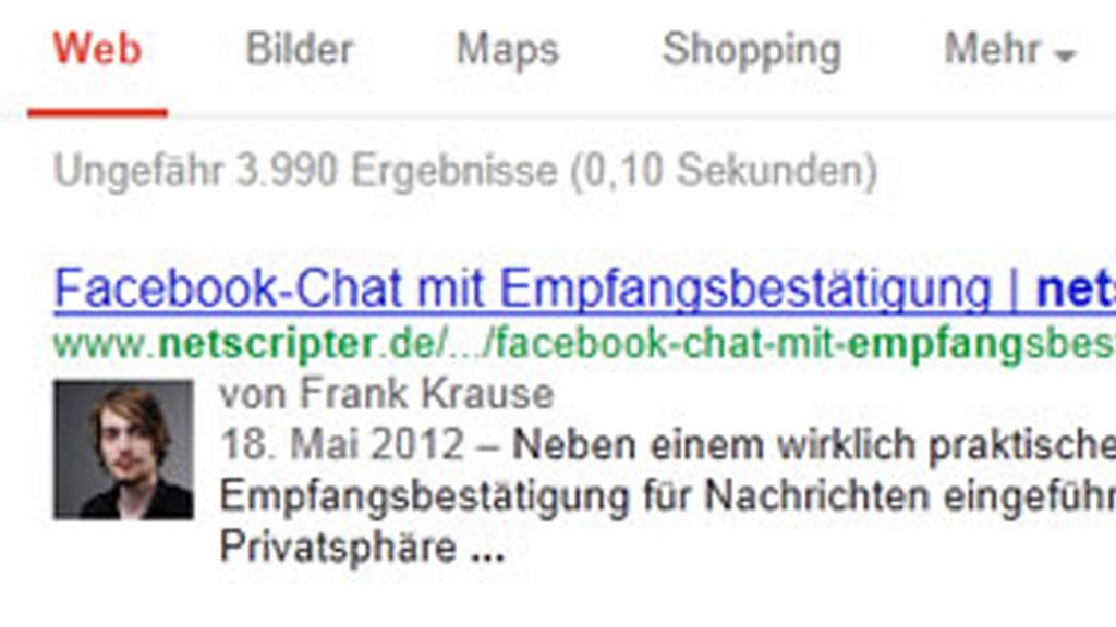 Google Authorship (Screenshot: Frank Krause / Google)