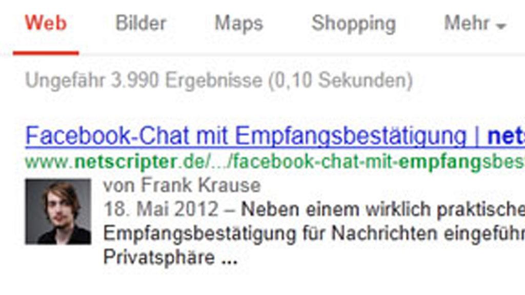 Google Authorship (Screenshot: Frank Krause / Google)
