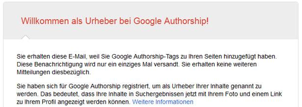 Bestätigungsmail von Google (Screenshot: Frank Krause / Google)