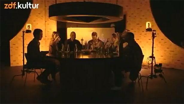 Umbau des Studios in Folge 1 der zweiten Staffel von Roche und Böhmermann (Screenshot: ZDFkultur)