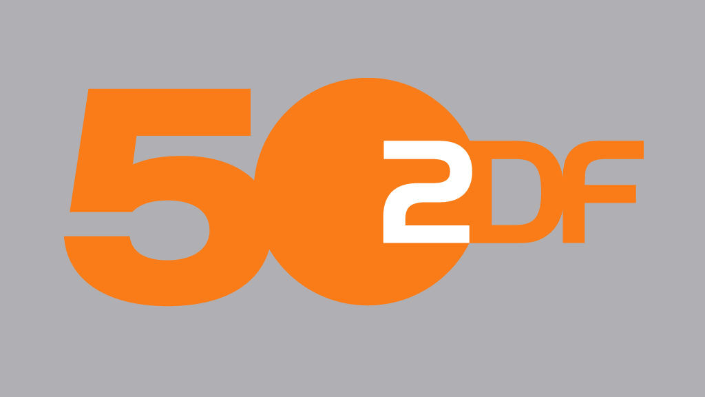 Das Logo zum Jubiläum: 50 Jahre ZDF (Logo: ZDF / Corporate Design)