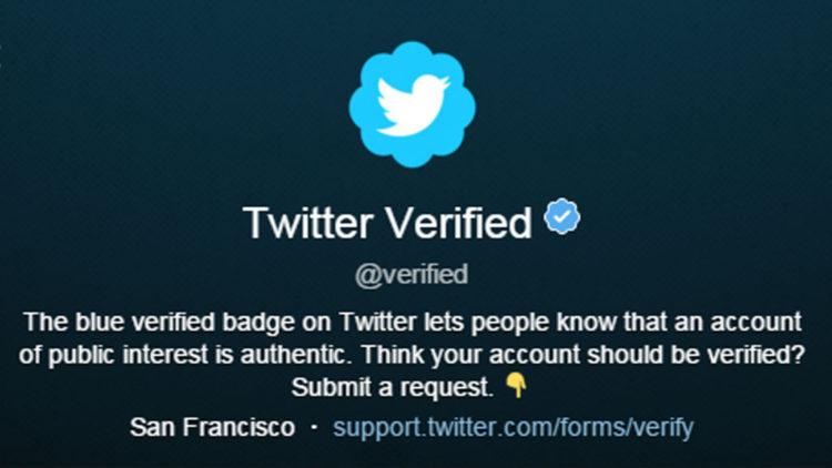 Der Twitter-Verified-Account (Screenshot: Frank Krause / Twitter)