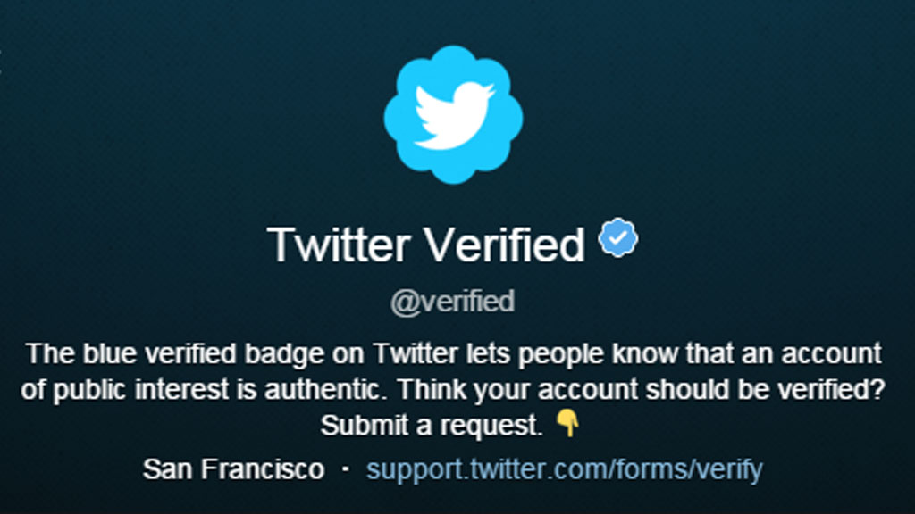 Der Twitter-Verified-Account (Screenshot: Frank Krause / Twitter)