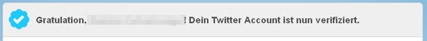 Verifizierung des Twitter-Accounts abgeschlossen (Screenshot: Frank Krause / Twitter)