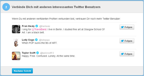 Verifizierung des Twitter-Accounts, Schritt 2 (Screenshot: Frank Krause / Twitter)