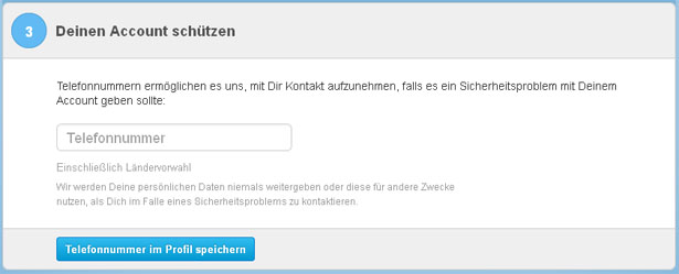 Verifizierung des Twitter-Accounts, Schritt 3 (Screenshot: Frank Krause / Twitter)
