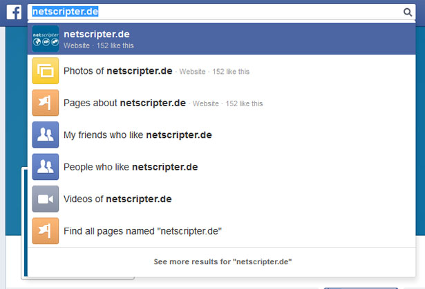 Die Graph Search in Aktion (Screenshot: Facebook / Frank Krause)
