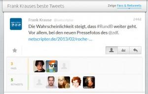 Der bisher erfolgreichste Tweet von @netscripter (Screenshot: Favstar / Frank Krause)
