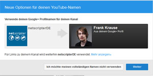 Youtube-Account mit Google+ verknüpfen (Screenshot: Frank Krause / Youtube)