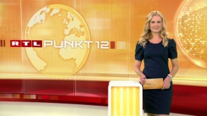 Katja Burkard im Studio von Punkt 12 - Das RTL-Mittagsjournal (Foto: RTL)