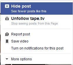 Ständig muss ich Posts bei Facebook von Hand ausblenden (Screenshot: Facebook / Frank Krause)