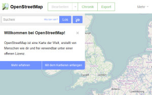 Ein nützliches Big Data Projekt: Open Street Map (Screenshot: Open Street Map / Frank Krause)