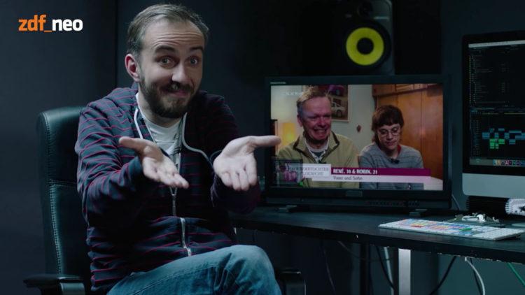 Jan Böhmermann beim #Verafake (Screenshot: ZDFneo)