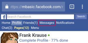 In der klassischen Mobilversion wird man nicht mehr vom Chat ausgesperrt. (Screenshot: Facebook / Frank Krause)