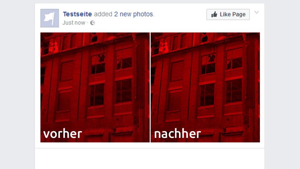 Scharfe Fotos auf Facebook sind möglich, man muss nur wissen wie. (Screenshot: Facebook / Frank Krause)