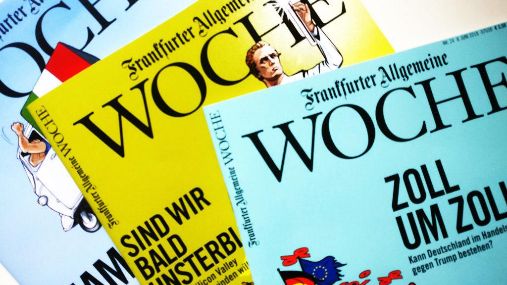 """Zwei Jahre lang hatte ich die """"Frankfurter Allgemeinen Woche"""" abonniert."""