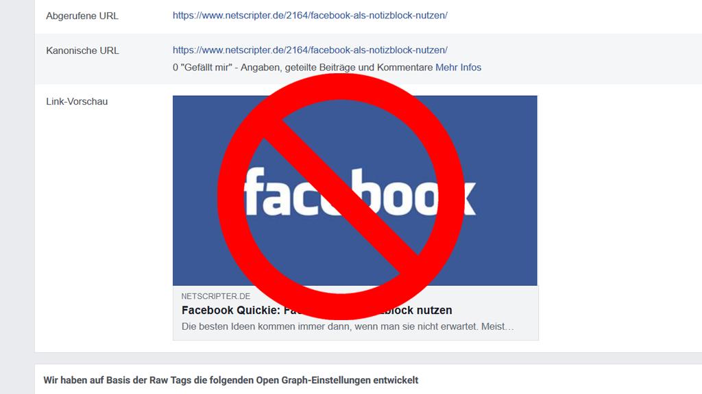 Warum fehlt bei vielen Seiten aktuell das Vorschaubild? (Screenshot: Facebook)